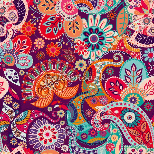 Paisley Pattern. Seamless Indian Pattern