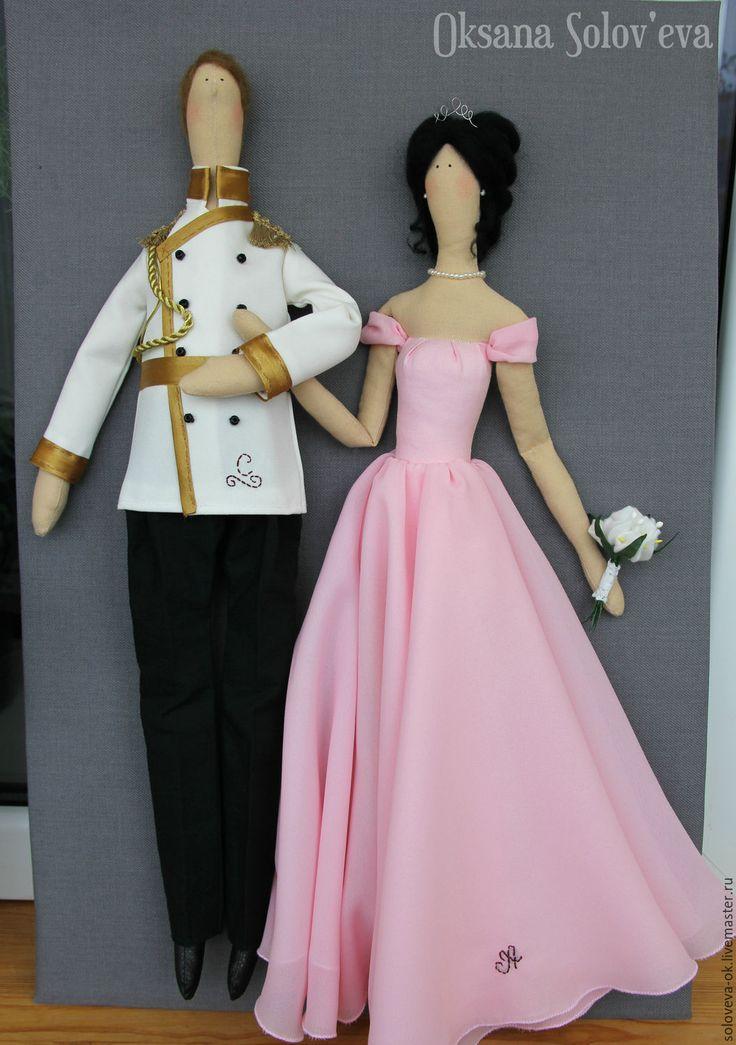 Купить Свадебная пара в стиле Тильда - комбинированный, свадьба, годовщина, молодожены, жених, невеста ♡