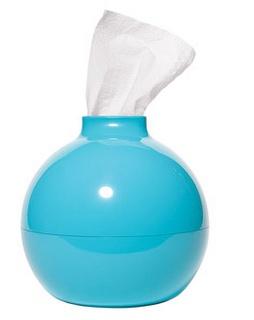 blue, tissue paper pot, paper pot, desk, desktop, office, work, school,