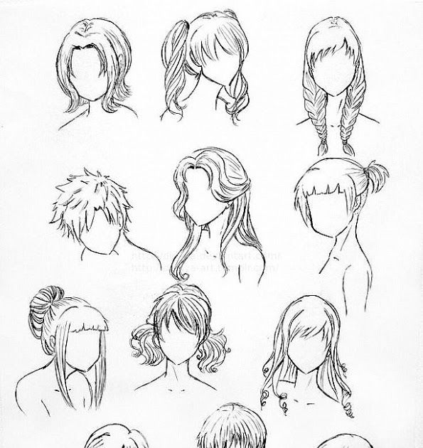 Anime Hairstyles Drawing At Paintingvalley Com Explore How To Draw A Head With Hair Boy How To Draw Hairstyles For Manga In 2020 Manga Hair Anime Boy Hair Anime Hair
