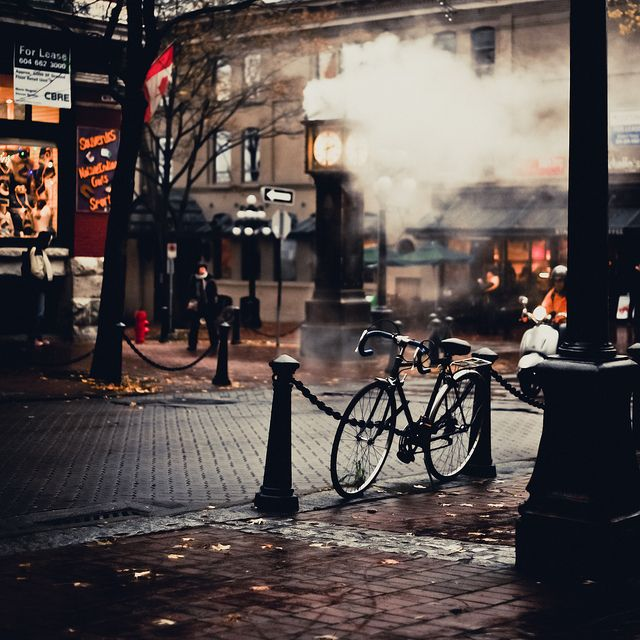 The historic Gastown neighbourhood, a short walk from SFU's Vancouver campus.