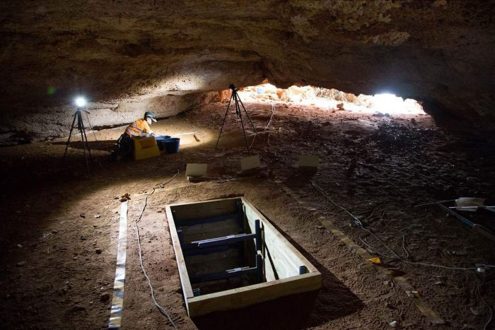 WA cave where archaeologists found early human life