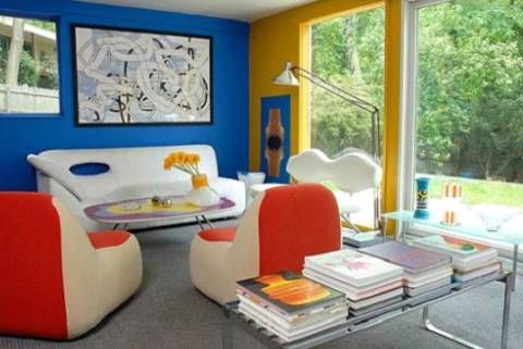 A Room With A Primary Color Scheme The Geometric And