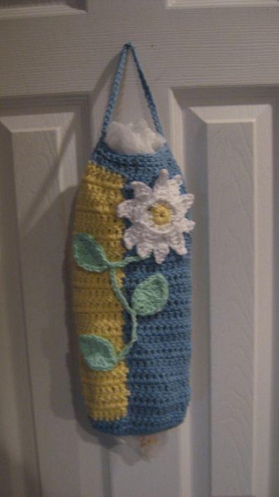 Free Knitting Pattern Grocery Bag Holder : Free pattern for a crochet plastic bag holder. Crochet ...
