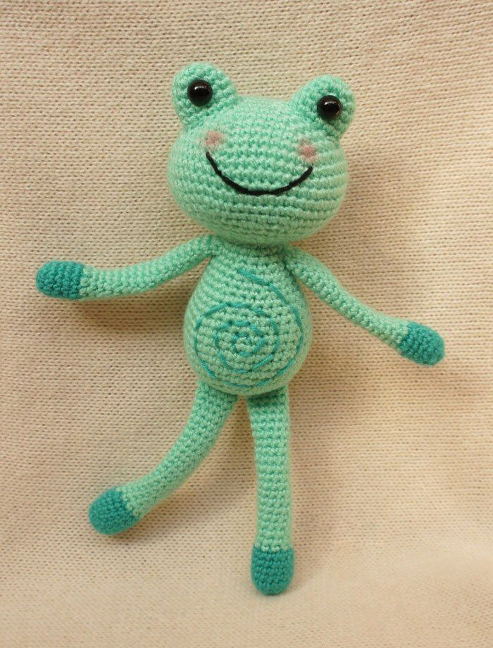 Croc Frog Amigurumi -Free English Pattern