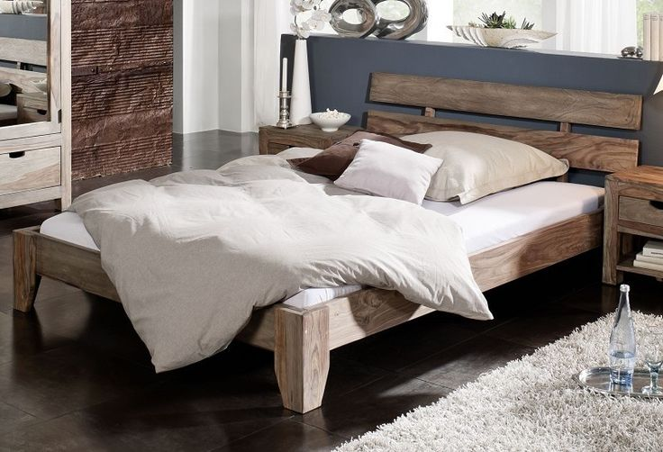 16 190,00 Kč Masiv24.cz  -  Sheesham postel 180x200 , masivní palisandrové dřevo NATURE GREY #212 - Postele a noční stolky - Nábytek