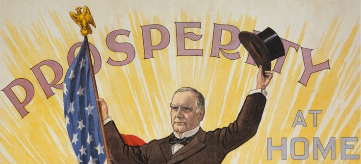 A campaign poster of President William McKinley in the year 1900; Wikimedia Commons