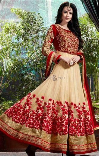 Long Anarkali Frock Design For Ladies At Low Price Visit http://www.designersandyou.com/dresses/anarkali-suits #TrendyAnarkali #IndianAnarkali #AnarkaliDresses #AnarkaliSuits #EmbroideredAnarkali