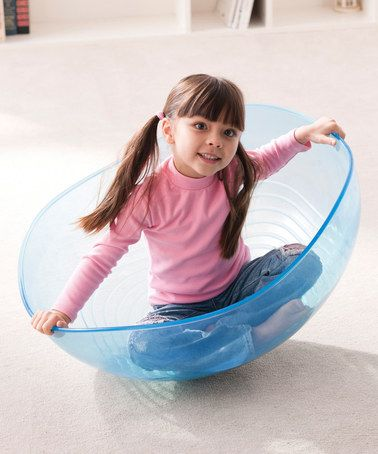 Loving this Clear Rocking Bowl  By Weplay Great Christmas Present for the kids!  Designed with a curved bottom, this rocking bowl fits two kids for side-by-side play. Turn it over for stretching exercises.  12.6'' H x 28'' diameter ABS Recommended for ages 6 months and up Imported  Keep the children busy with this cool present.  #kids, #children, gift, unique, holidays, play, toys