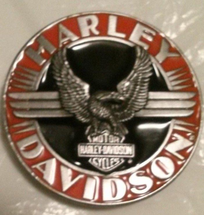 New Vintage Harley Davidson Belt Buckle Siskiyou 1992 Harmony Designs