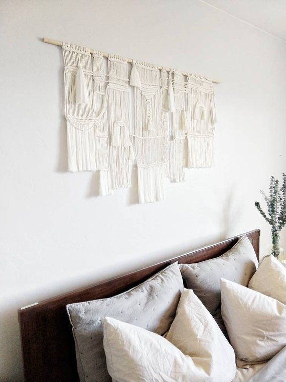 Woven Wall Hanging Handmade Tapestry Mid Century Modern Boho