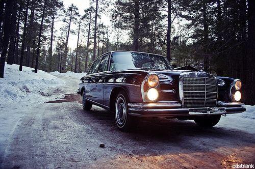 1966 Mercedes-Benz W108 250SE at Mt. Lemmon, Arizona