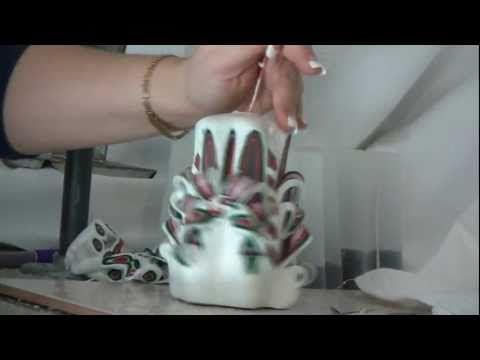 Como se hacen velas talladas - YouTube