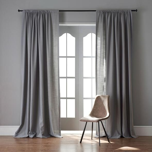 Modern Grey Color Linen Solid Sheer Curtain Window Curtains For Living Room Grey Curtains Living Room Living Room Decor Curtains Curtains Living Room