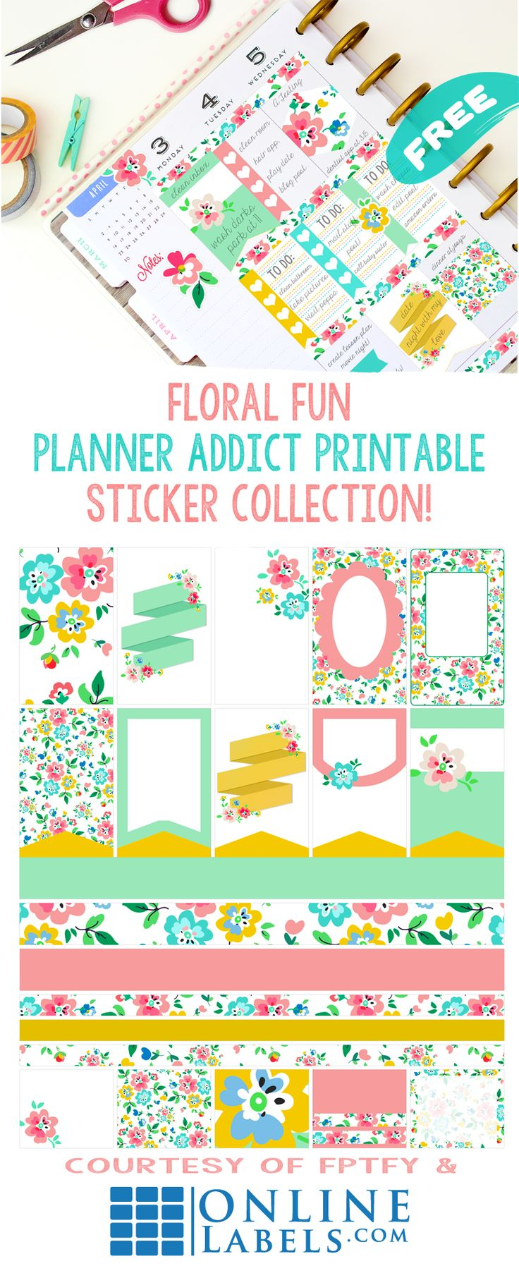 Free Planner Printables-Floral Fun! - Free Pretty Things For You