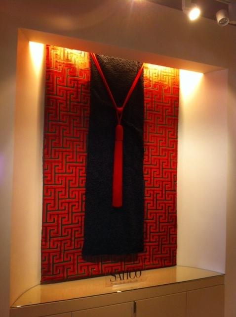 Sahco: Tatami 2382-04, Persian 2569-03, Patricia tieback P020-07