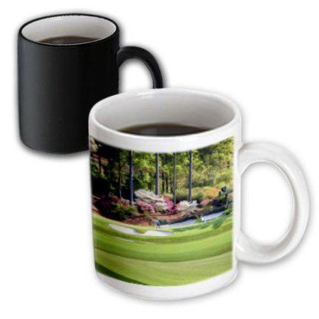 3dRose Amen Corner in Augusta Georgia - Golfers on Bridge, Magic Transforming Mug, 11oz