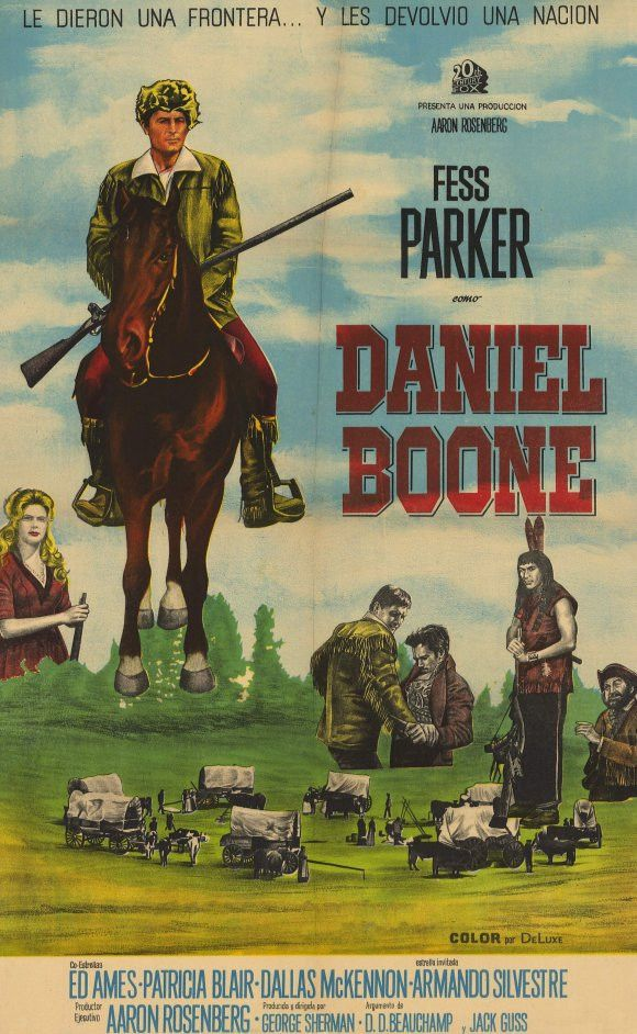 """CAST: Fess Parker, Patricia Blair, Darby Hinton, Dal McKennon, Ed Ames;; DIRECTED BY: Thomas Carr., Earl Bellamy; Features: - 11"""" x 17"""" - Packaged with care - ships in sturdy reinforced packing materi"""
