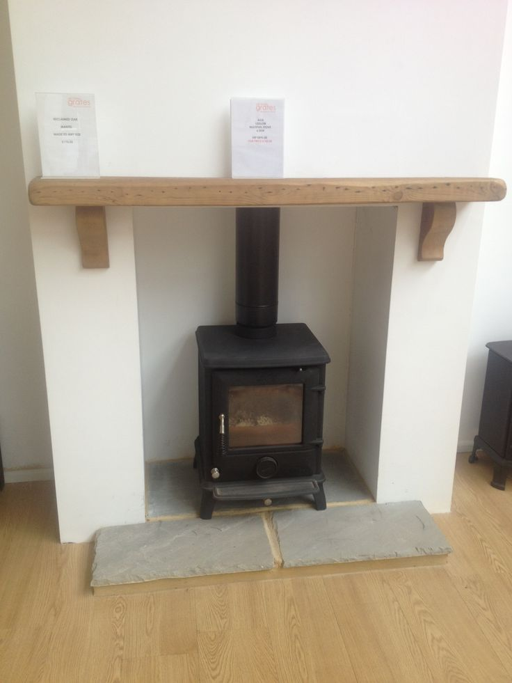 Love The Elegance And Simplicity Of This Wood Burner Plain Mantlepiece FireplaceFireplace IdeasWood