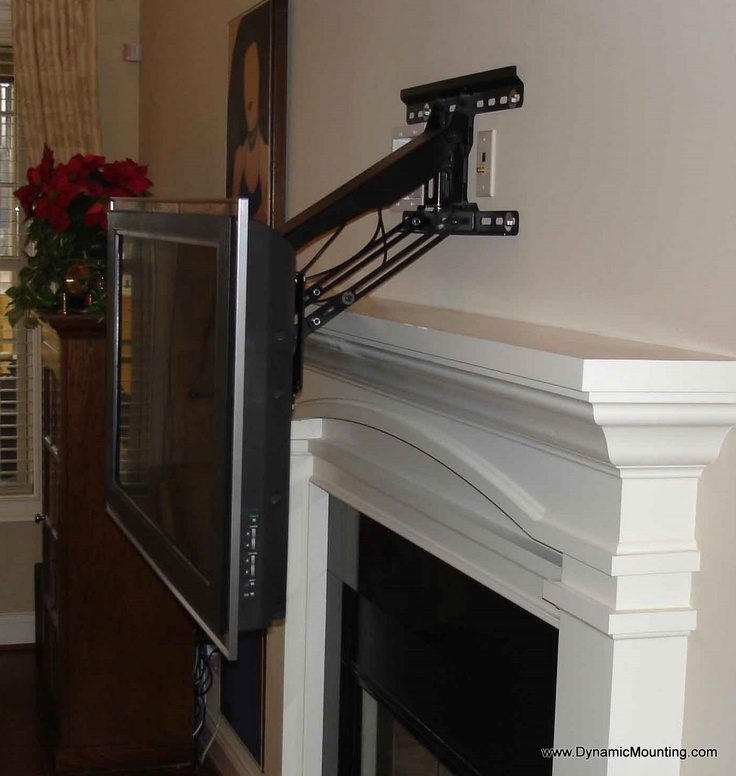 78 Images About Fireplace Tv Mount On Pinterest Mantels Flats And Tvs
