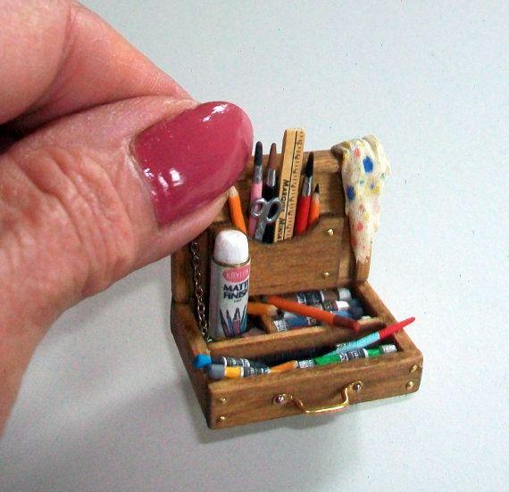 Miniature Art Studio Sink 1 inch dollhouse by MarquisMiniatures