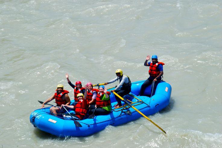 White Water Rafting at Rishikesh #AdventureJourneys #WorldwideAdventures