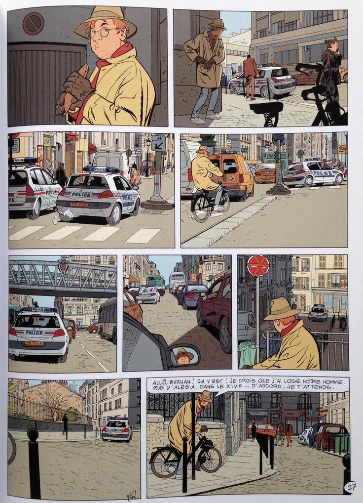 """""""Alain Dodier's Paris and cameo in Jérôme K. Jérôme Bloche - color Cerise"""""""