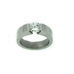 Stainless Steel Cubic Zirconia Wedding Ring, Size 8 (Jewelry)  http://balanceddiet.me.uk/lushstuff.php?p=B004OVCYX2  B004OVCYX2