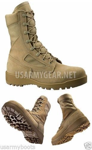 Made in USA Belleville 390 Desert Military Combat Boots | US Army Gear