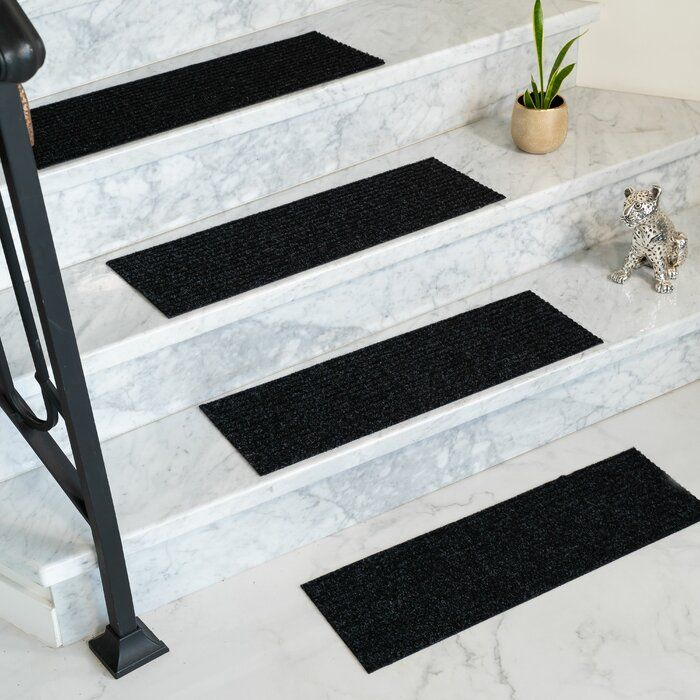 Best Bayless Charcoal Stair Tread Stair Treads Carpet Stair 640 x 480
