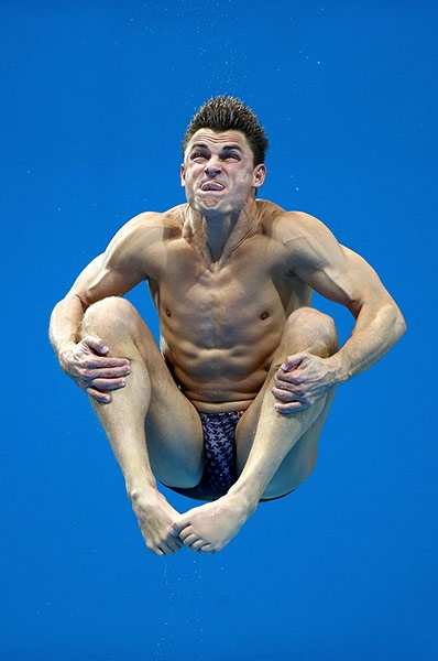 So close I can taste it: Troy Dumais of the United States competes in the men's 3m springboard diving final