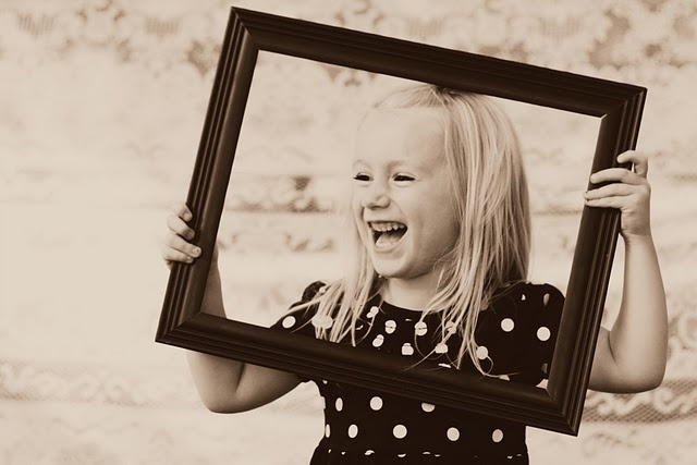 photography, picture frame, girl, black and white, children