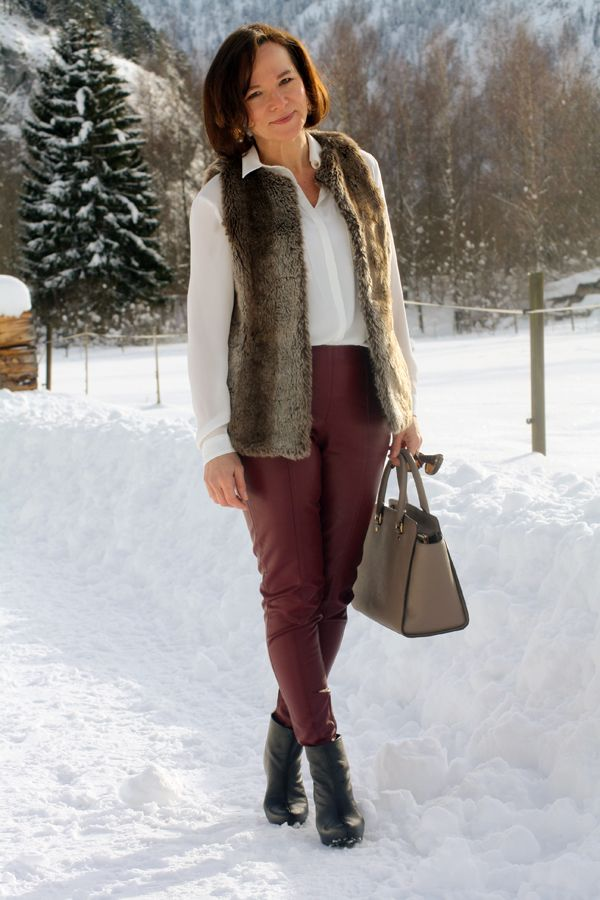 Leather And Fur Lady Of Style A Fashion Blog For Mature Women Winter Style Inspiration