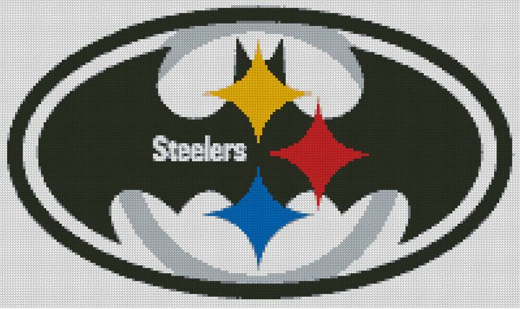 Cross stitch chart, Pattern, Pittsburgh Steelers, Batman, NFL, American Football #Doesnotapply