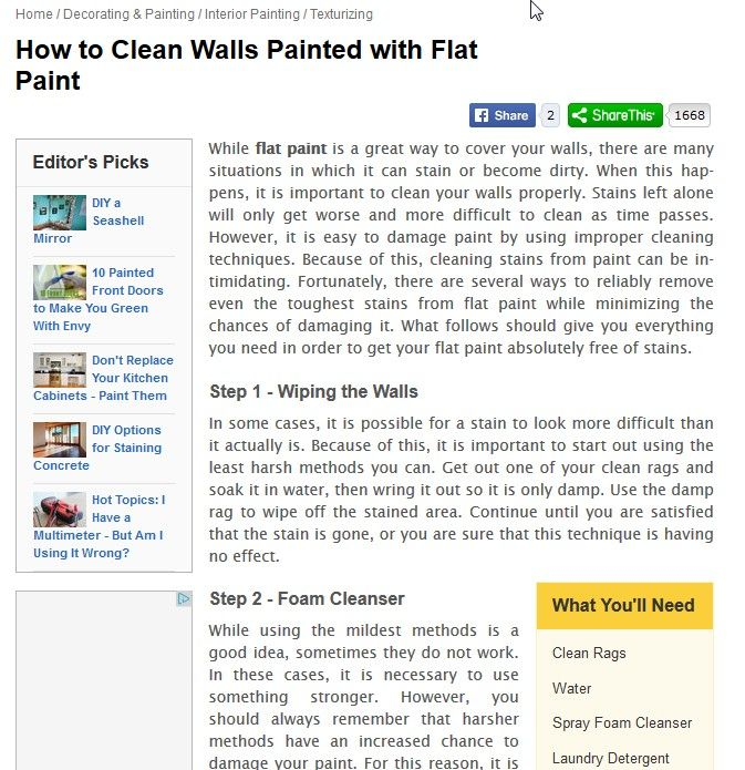 How To Clean Flat Painted Walls Thecarpets Co