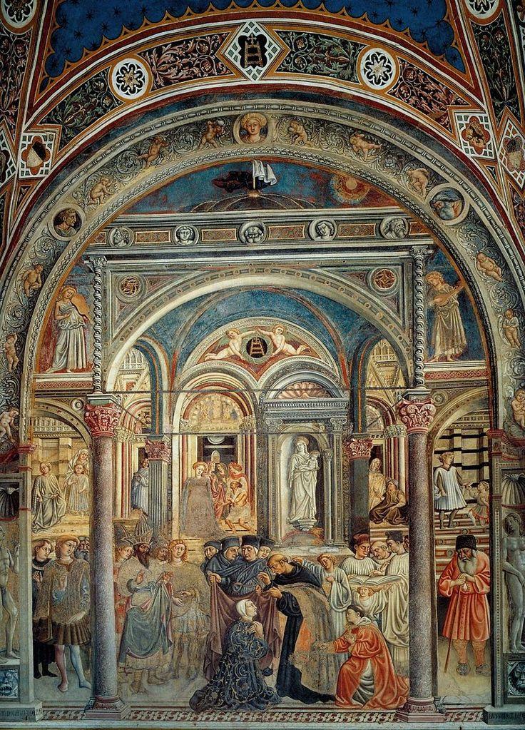 Приамо делла Кверча. «Агостино Новелло назначает первого ректора». фреска. 1440-44гг. Госпиталь Санта Мария делла Скала, Сиена.