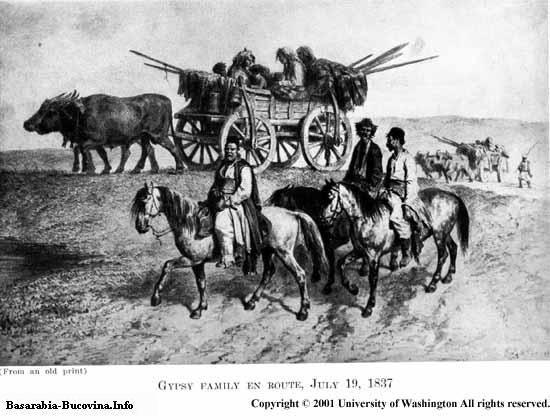 11 Charles Upson Clark Bessarabia - Basarabia familie de tigani nomazi 1837
