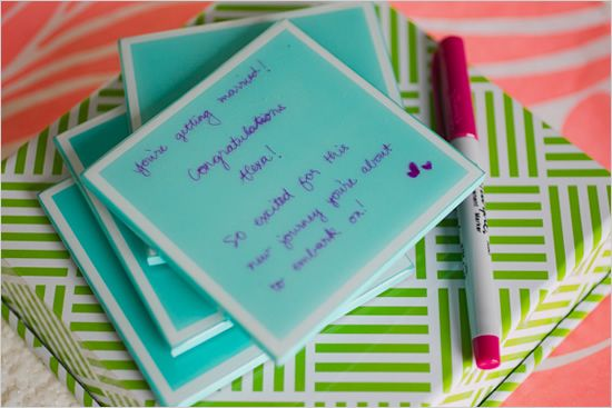 keepsake coasters bridal shower ideas: Gifts Ideas, Gift Ideas, Cute Ideas, Bridal Shower Ideas, Coasters Ideas, Shower Guestbook, Shower Ideal, Parties Ideas, Coasters Bridal