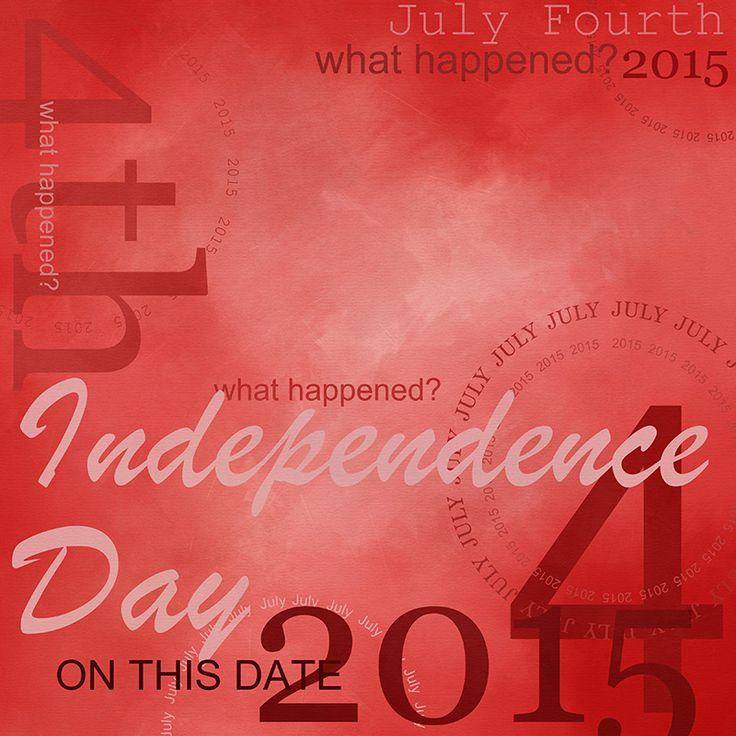 Paper created for today, Independence Day, July 4th, 2015, by KittenScraps. Digital Scrapbooking Freebie