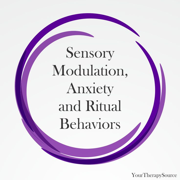 What comes first: difficulties with sensory modulation, anxiety or ritual behaviors? In children, it can be hard to determine how they are inter-connected.