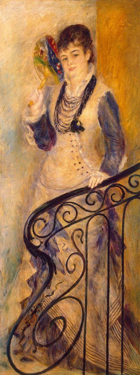 Пьер Огюст Ренуар. Женщина на лестнице