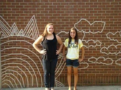 Masking tape murals! What a great idea!!! - Art of Apex High School