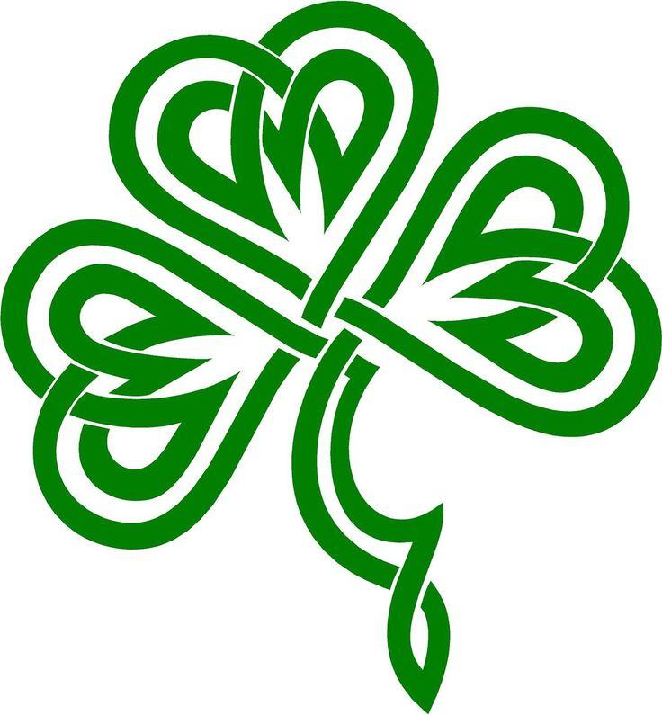 Celtic Clover   Irish Clover / Shamrock Celtic Knot Decal /Sticker You Pick Color