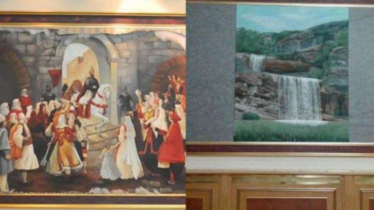 Ja si u #zëvendësuan #pikturat me #motive #kombëtare me ato turistike (foto)