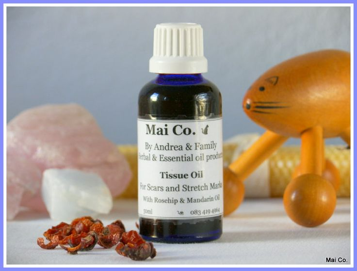 Mai Co Tissue Oil. A delicate blend to help treat those scars and stretch marks. Healing properties of Rosehip and Mandarin make it soothing to the skin, healing and nourishing for when your skin needs a little extra care!