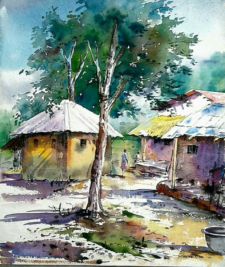Pin By Shubha Bhatt On Watercolor Landscape Watercolor Landscape
