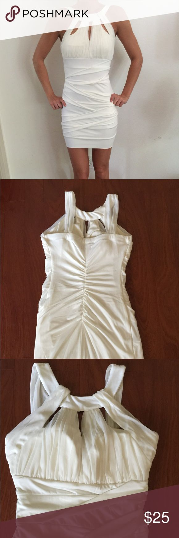 Body central size small dress white dress Body central size small white/off white dress. Stretchy material. Super cute for a bride! Body Central Dresses Mini