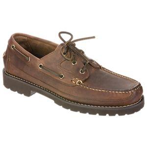 Bob Timberlake Canoe 3-Eye Boat Shoes for Men - Brown - 10.5M