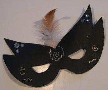 papir maske til fastelavnsris - dame edna style