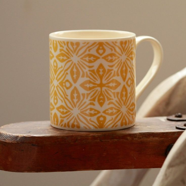 The Simple Things / Cambridge Imprint / Mug Kaleidoscope Yellow